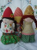 Woodland Gnome Doll – Patchwork Posse Pink Cheeks, Doll Sewing Patterns, Animals For Kids, Step By Step Instructions, Gnomes, Braided Hairstyles, Christmas Stockings, Woodland, Handmade Gifts