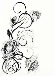 Rose Drawings Black And White Amp Charcoal Drawing Tattoo Designs