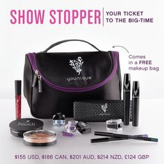 "GET IT BEFORE IT'S GONE! Younique has 6 Money-Saving Collections that are Retiring on August 31st, 2015! You'll save 20% off the individual retail price! Plus, you get your new makeup and skin care products in a FREE ""got to have"" carrying case!"