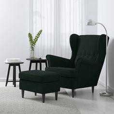 STRANDMON Tallmyra dark green, Wing chair - IKEA