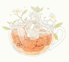 "tofuvi: ""grapefruit & honey tea. """