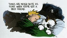 Calvin & Hobbes, best friends.  My hubby of 34 years is my best friend.  Love you @Scott Stephens