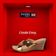 #Comfortable and #stylish, create envy in the minds of others as you strut about in these #golden metallic slip-ons!