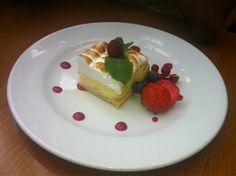 Lemon and meringue tart @ The Gate Best Vegetarian Restaurants, Meringue, Tart, Cheesecake, Lemon, Desserts, Food, Merengue, Cake