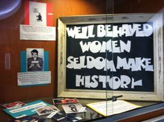 Madera County Government Center Window Display for Women's History Month!
