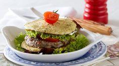 Hambúrguer no pão de couve-flor