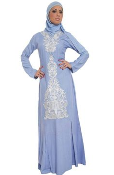 Alvina Formal Long Maxi Dress - Modest Islamic Fashion at Artizara.com
