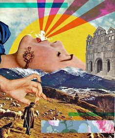Collages are also often used to solve crimes of a complicated nature. What is your theme for an inspirational collage? Collage Kunst, Art Du Collage, Surreal Collage, Mixed Media Collage, Surreal Art, Digital Collage, Dada Collage, Art Collages, Collage Artists