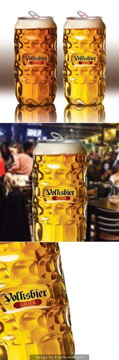 Volksbier #beer #PETbottle, Creative Agency: remark studio - http://www.packagingoftheworld.com/2014/10/volksbier.html PD