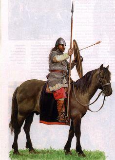 Polish warrior (woj) of Mieszko I; timeline: 10th century / battle of Cedynia.