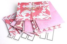 Paperwerx envelopes handmade pinks colorway by PaperwerxandEncore