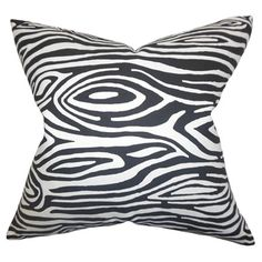 An artful addition to your sofa, settee, or chaise, this charming pillow features an abstract woodgrain-inspired motif. Made in the USA.   ...