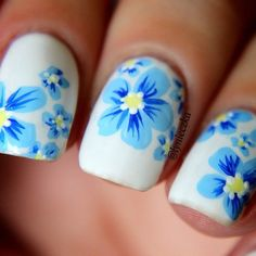 #Nail_Art #Flower_Print                                                                                                                                                      More