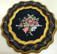 Atelier Gina Pafiadache - Al.Giselda- www.ginapafiadache.com Painting On Wood, Painting & Drawing, Fork Art, Painted Plates, Boarders, Art Decor, Arts And Crafts, Country, Painted Trays