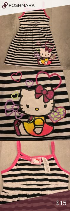 Hello Kitty Striped Sleeveless Girls Dress NWOT Hello Kitty Striped Sleeveless Girls Dress Size S (6/6X)  20% bundle discount! Will consider reasonable offers! Smoke- & pet-free home Any questions? Just ask! Hello Kitty Dresses Casual