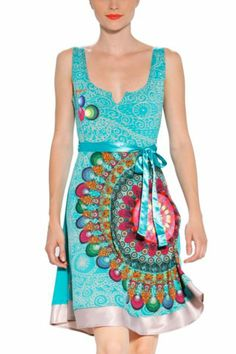 Bringing out my Boho-Chic our Flashback Fashion Statement wearing this Desigual Galactic Dress.  Perfect or Summer Fun, Festivals and more!  www.Desigual.com #GetYourStyleBack