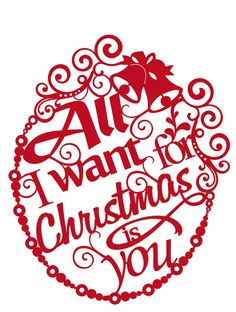 Paper cut All I want for Christmas is you wall by Papercutsongs, $29.00  paper, papercut, paper-cut, papercuts, paper cut