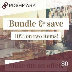 Bundle & save money! Bundle two items and automatically save 10%. Send me offers! You won't know until you try. 😉 Dresses