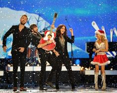 Country music awards: Lady Antebellum performs with Kristin Chenoweth during the American Country Awards. IMAGE  (AP Photo: Al Powers)