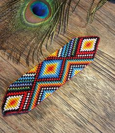 Sacred Ceremony Amulets, Handmade Sacred Geometry Jewellery, Shamanic Amulets, Ayahuasca Inspired by KavanaEmporium on Etsy Peyote Patterns, Loom Patterns, Beading Patterns, Beaded Jewelry, Handmade Jewelry, Mandala Print, Flower Mandala, Native American Beading, Friendship Gifts