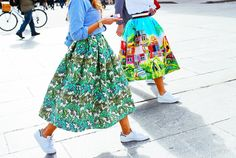 Amazing Summery Prints | We Love! | Street Style: Milan Fashion Week Fall 2015 – Vogue