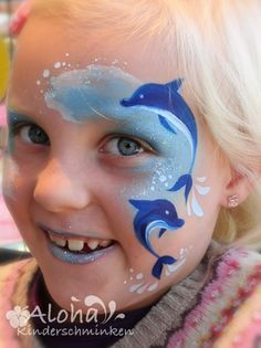 Face painting motifs for your kids party! Face painting motifs for your kids party! Shark Face Painting, Girl Face Painting, Face Painting Designs, Painting For Kids, Paint Designs, Dolphin Face Paint, Animal Face Paintings, Animal Faces, Mermaid Face Paint
