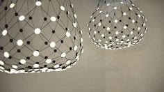 A suspension lamp offering multiple lighting scenarios for personalized aesthetic and functional performance. Based on experimentation with the potential of LEDs,… Chandelier, Mesh, Ceiling Lights, Lighting, Design, Home Decor, Technology, Magic, Boutique