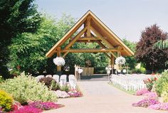 The Outdoor Wedding Venue At Log House Garden A Little Far But I Think It Is