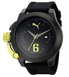 PUMA Men's Advance Black Analog Display Japanese Quartz Black Watch | Male Emporium