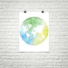 Colorful map of the world. Map art. World map wall art. World