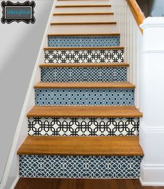 Kitchen Bathroom Wall Stair Riser Tile Decals Vinyl by SnazzyDecal
