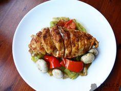 Pečené kuřecí prso se zeleninovou směsí