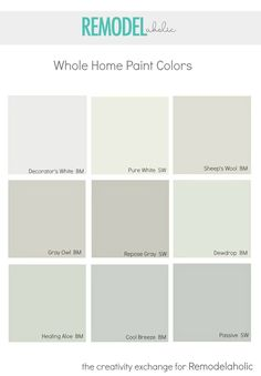 Whole Home Paint Colors that Look Amazing! Tips for choosing a whole home paint color, plus lots more paint color tips on Remodelaholic.com