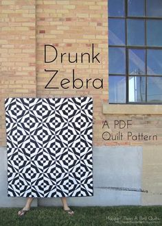 Looking for your next project? You're going to love Drunk Zebra Quilt Pattern by designer lindseystitches.