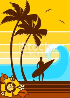 Ready for vector web + editable for FREE with Inkscape surf rétro Surf Vintage, Surf Retro, Vintage Mermaid, Graffiti, Art Plage, Surfing Photos, Silhouette Vector, Beach Art, Ocean Beach