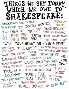 Turns out William Shakespeare is responsible for many coming sayings we assume are modern! See our blog post: http://www.oberondesign.com/blogs/news