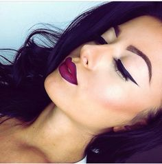 """MAC Nightmoth lip liner and Fixed on Drama lipstick follow her on Instagram """"Amrezy"""" best makeup ever and she gives you all info on where to get it and what she has on."""
