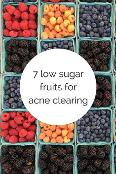 7 low sugar fruits- for your worst sugar cravings. Drink For Acne Best Foods For Skin, Foods For Clear Skin, Clear Skin Detox, Sugar Detox Recipes, Sugar Detox Diet, Healthy Snacks, Healthy Eating, Healthy Recipes, Clean Eating