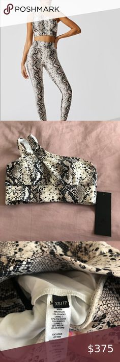 NWT! Michi Python Activewear Set Brand new with tags and stunning! Selling a Michi NY activewear trio. Set includes: 1) Verve Legging in Python, size XXS - $130 retail 2) Tigress Bra in Python, size XS - $118 retail 3) Instinct Bike Short, size XXS - $108 retail MICHI Other
