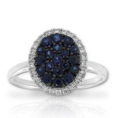 Sapphire & Diamond Ring. #rocksonrocks
