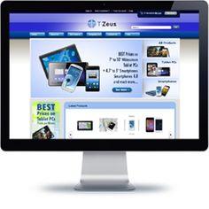 T-Zeus eStore built with E-commerce.