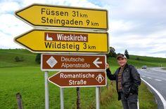 A Rota Romântica, no sul da Bavária, Alemanha. - Joaquim Nery.