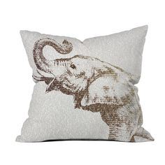 An Elephant Never Forgets Pillow