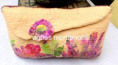 Cubierta de lana afieltrada scarlet rose modelo