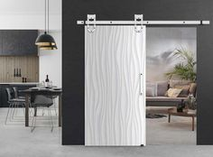 MAGNI-WHITE SET: Για συρόμενες πόρτες τύπου αχυρώνα με των οδυγο 2000 mm έως 120 kg . από Vialex Hellas Sliding Barn Door Hardware, Loft, Curtains, Doors, Shower, Home Decor, Rain Shower Heads, Blinds, Decoration Home