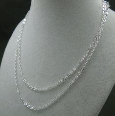 Fini de chaîne Collier argent câble plat par jewelersparadise, $1.75