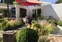 Vue du jardin éphémère créé pour l'entreprise Accent du Sud - Conception : Christophe Naudier, Architecte Paysagiste