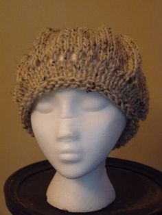 Wheat Colored Ladies Knit Hat by lovemyknits on Etsy, $18.00