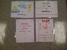 Kindergarten measurement posters