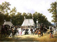 Hippolyte Lecomte - Louis XVIII (1755-1824) Greeting Marie-Caroline-Ferdinande de Bourbon, Princess of Sicily,